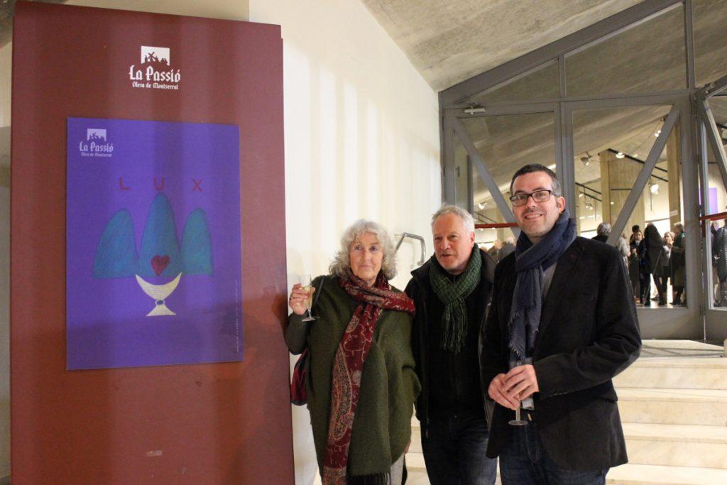 Gubern, Montoya i Carrique davant del cartell 2018